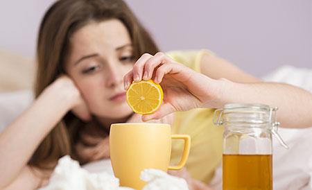 Gribe İyi Gelen Limonlu Çay