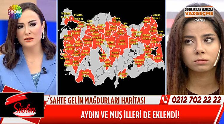 09 Ocak sahte gelin mağdurları haritası