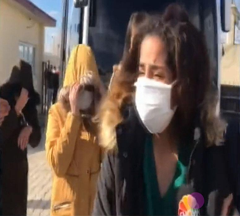 Melisay Tosun Gözaltına Alınırken