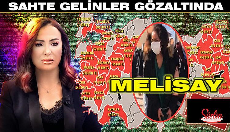 Sahte Gelin Melisay, Gözaltına Alındı, Gözaltı Görüntüleri
